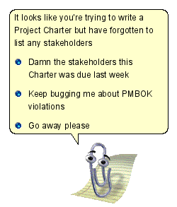 PMBOK Clippy