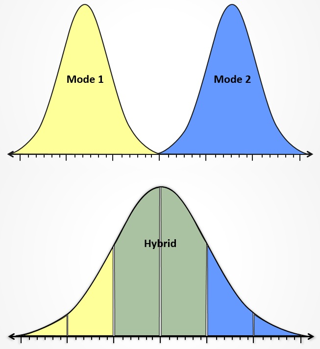 Bimodal IT distribution