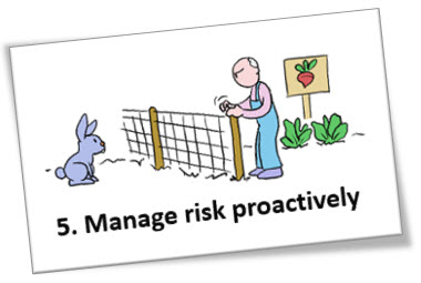 Manage risk proactively