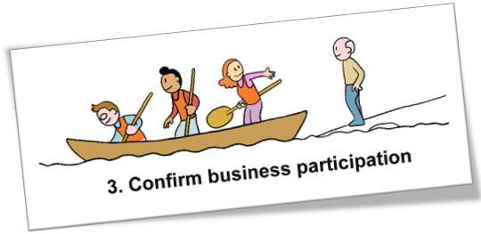 Confirm business participation