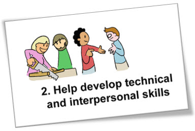 Help develop technical and interpersonal skills